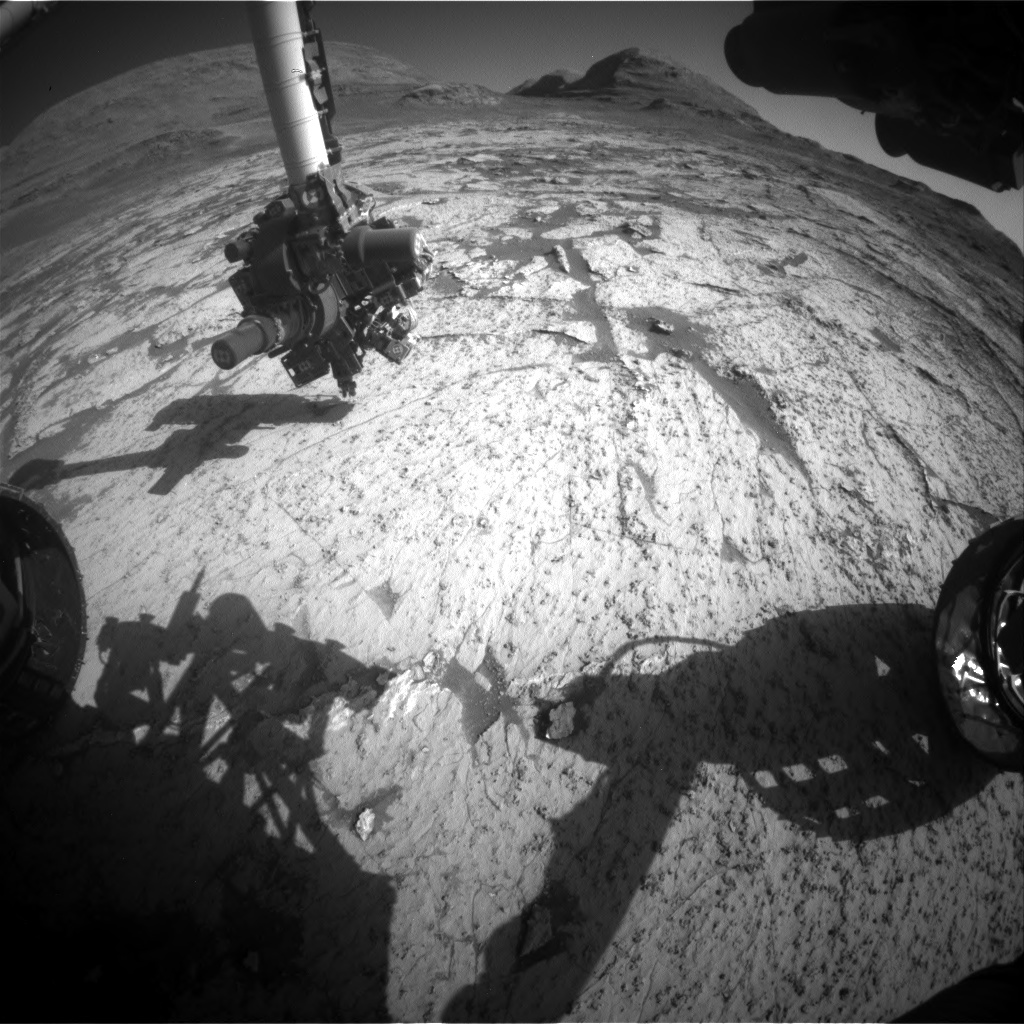 Nasa's Mars rover Curiosity acquired this image using its Front Hazard Avoidance Camera (Front Hazcam) on Sol 3144, at drive 2130, site number 88