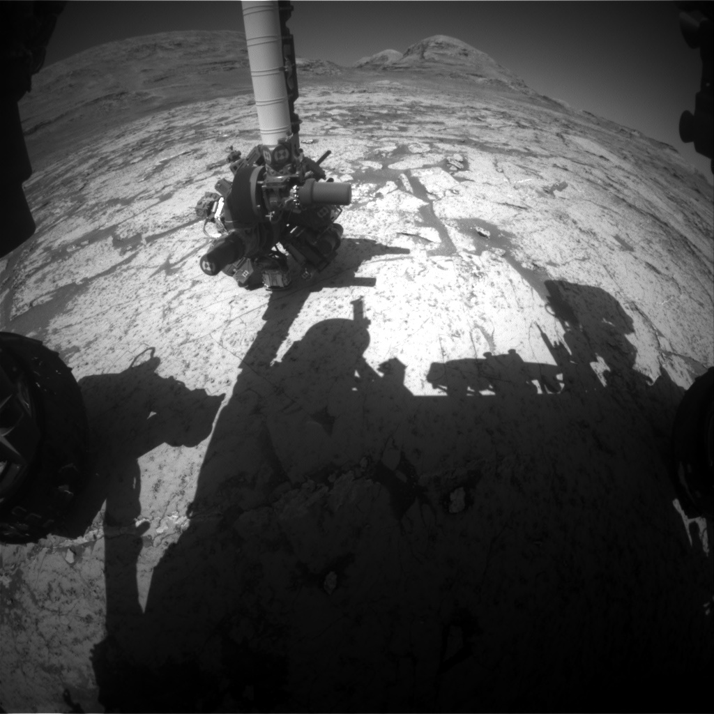 Nasa's Mars rover Curiosity acquired this image using its Front Hazard Avoidance Camera (Front Hazcam) on Sol 3145, at drive 2130, site number 88