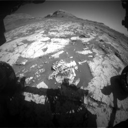 Nasa's Mars rover Curiosity acquired this image using its Front Hazard Avoidance Camera (Front Hazcam) on Sol 3145, at drive 2316, site number 88