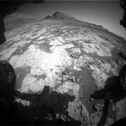 Nasa's Mars rover Curiosity acquired this image using its Front Hazard Avoidance Camera (Front Hazcam) on Sol 3145, at drive 2376, site number 88