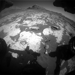 Nasa's Mars rover Curiosity acquired this image using its Front Hazard Avoidance Camera (Front Hazcam) on Sol 3145, at drive 2322, site number 88