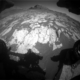 Nasa's Mars rover Curiosity acquired this image using its Front Hazard Avoidance Camera (Front Hazcam) on Sol 3145, at drive 2328, site number 88