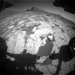 Nasa's Mars rover Curiosity acquired this image using its Front Hazard Avoidance Camera (Front Hazcam) on Sol 3145, at drive 2352, site number 88