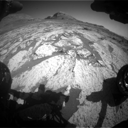 Nasa's Mars rover Curiosity acquired this image using its Front Hazard Avoidance Camera (Front Hazcam) on Sol 3145, at drive 2358, site number 88