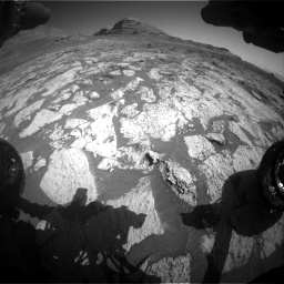 Nasa's Mars rover Curiosity acquired this image using its Front Hazard Avoidance Camera (Front Hazcam) on Sol 3145, at drive 2388, site number 88