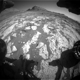 Nasa's Mars rover Curiosity acquired this image using its Front Hazard Avoidance Camera (Front Hazcam) on Sol 3145, at drive 2394, site number 88