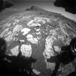 Nasa's Mars rover Curiosity acquired this image using its Front Hazard Avoidance Camera (Front Hazcam) on Sol 3145, at drive 2400, site number 88