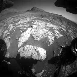 Nasa's Mars rover Curiosity acquired this image using its Front Hazard Avoidance Camera (Front Hazcam) on Sol 3145, at drive 2406, site number 88