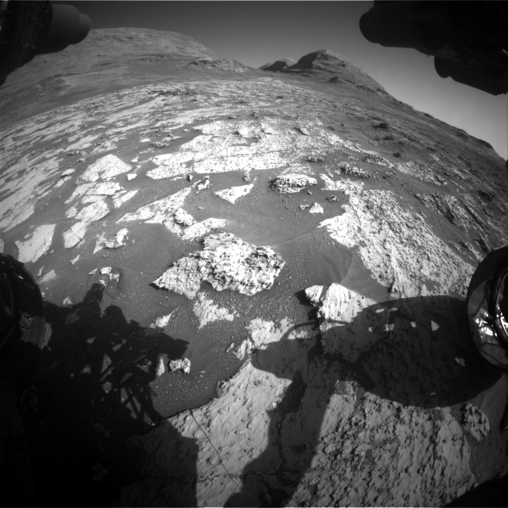 Nasa's Mars rover Curiosity acquired this image using its Front Hazard Avoidance Camera (Front Hazcam) on Sol 3145, at drive 2422, site number 88