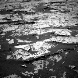 Nasa's Mars rover Curiosity acquired this image using its Left Navigation Camera on Sol 3145, at drive 2220, site number 88