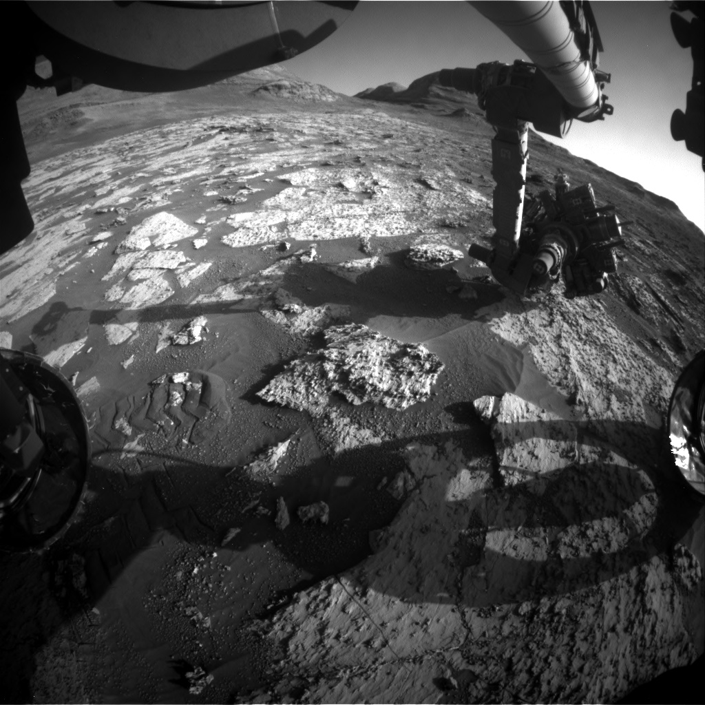 Nasa's Mars rover Curiosity acquired this image using its Front Hazard Avoidance Camera (Front Hazcam) on Sol 3146, at drive 2422, site number 88