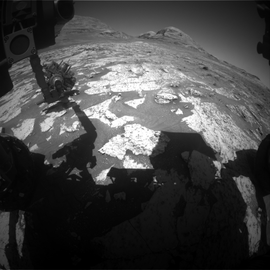 Nasa's Mars rover Curiosity acquired this image using its Front Hazard Avoidance Camera (Front Hazcam) on Sol 3147, at drive 2422, site number 88
