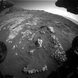 Nasa's Mars rover Curiosity acquired this image using its Front Hazard Avoidance Camera (Front Hazcam) on Sol 3149, at drive 3046, site number 88