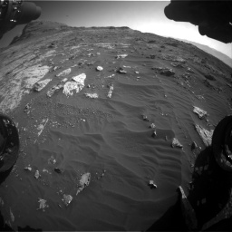 Nasa's Mars rover Curiosity acquired this image using its Front Hazard Avoidance Camera (Front Hazcam) on Sol 3149, at drive 3076, site number 88
