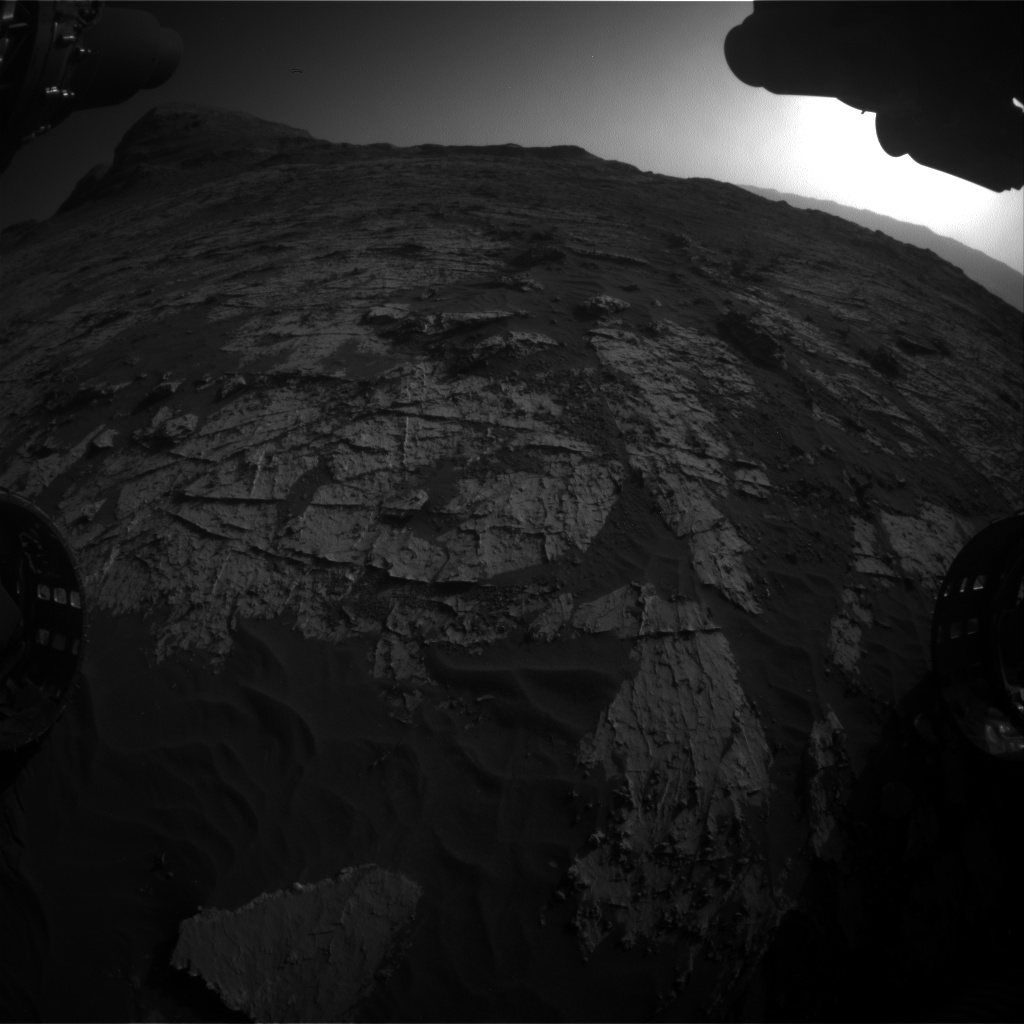 Nasa's Mars rover Curiosity acquired this image using its Front Hazard Avoidance Camera (Front Hazcam) on Sol 3149, at drive 0, site number 89