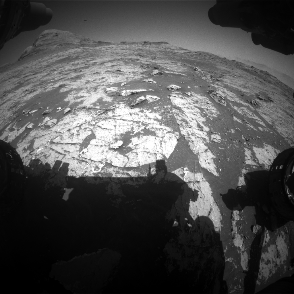 Nasa's Mars rover Curiosity acquired this image using its Front Hazard Avoidance Camera (Front Hazcam) on Sol 3150, at drive 0, site number 89