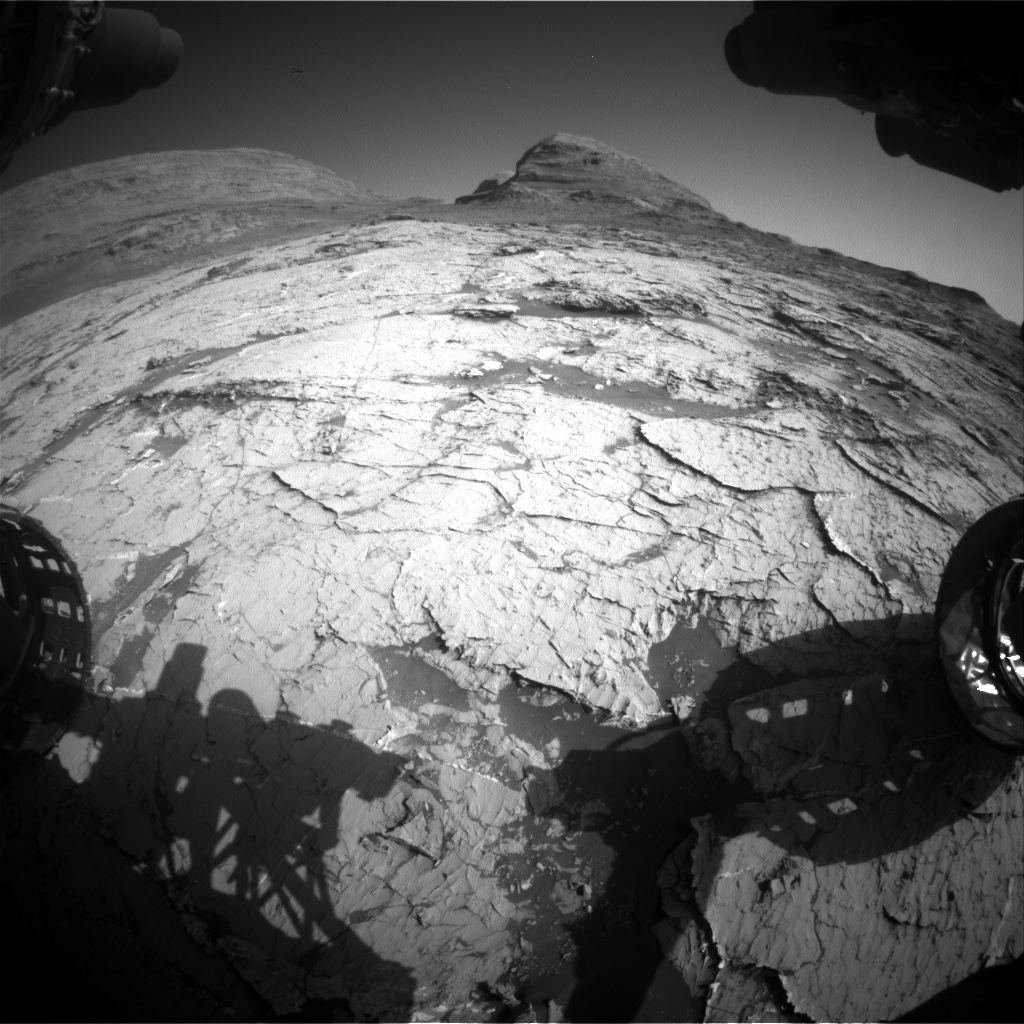 Nasa's Mars rover Curiosity acquired this image using its Front Hazard Avoidance Camera (Front Hazcam) on Sol 3151, at drive 276, site number 89