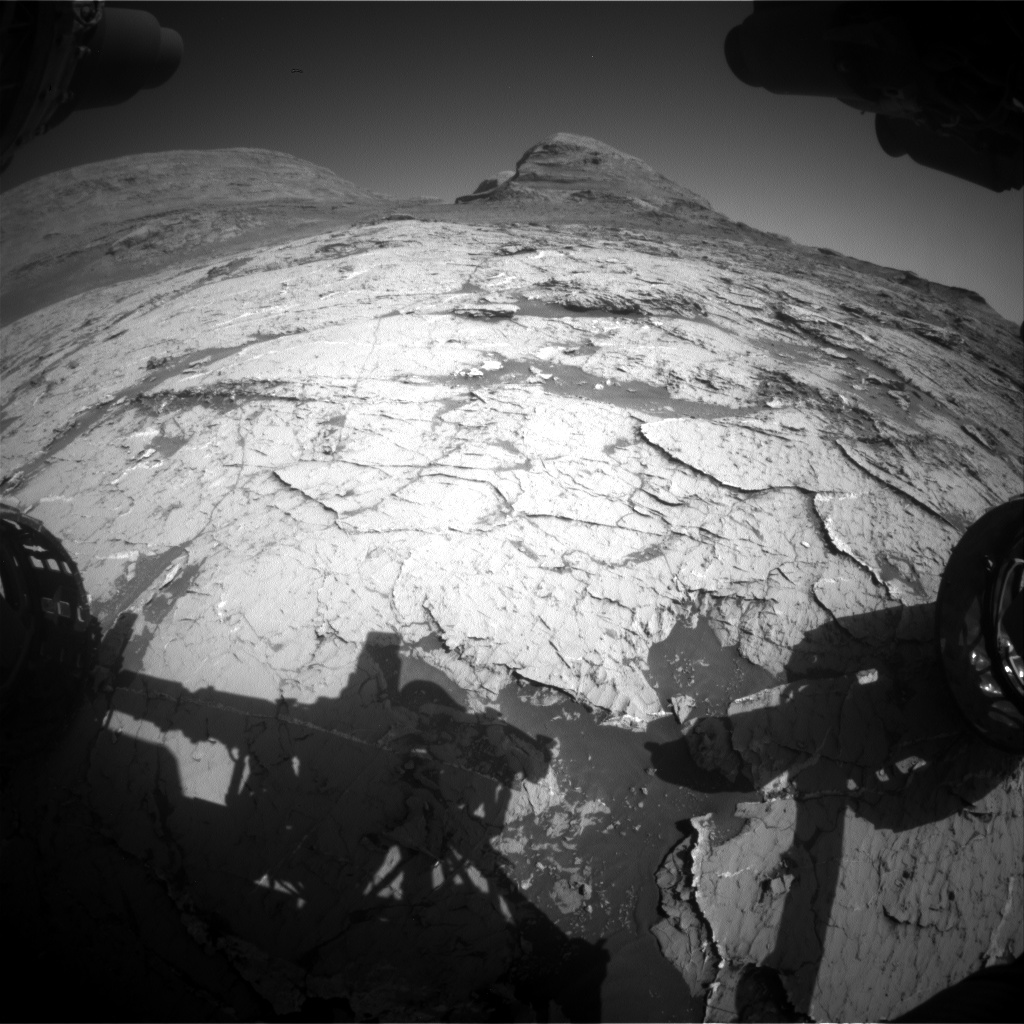 Nasa's Mars rover Curiosity acquired this image using its Front Hazard Avoidance Camera (Front Hazcam) on Sol 3153, at drive 276, site number 89