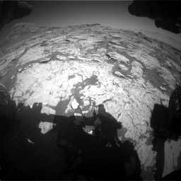 Nasa's Mars rover Curiosity acquired this image using its Front Hazard Avoidance Camera (Front Hazcam) on Sol 3154, at drive 484, site number 89