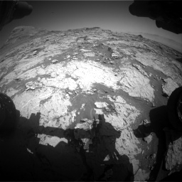 Nasa's Mars rover Curiosity acquired this image using its Front Hazard Avoidance Camera (Front Hazcam) on Sol 3154, at drive 520, site number 89