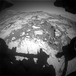 Nasa's Mars rover Curiosity acquired this image using its Front Hazard Avoidance Camera (Front Hazcam) on Sol 3154, at drive 532, site number 89