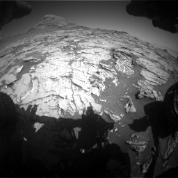 Nasa's Mars rover Curiosity acquired this image using its Front Hazard Avoidance Camera (Front Hazcam) on Sol 3154, at drive 556, site number 89