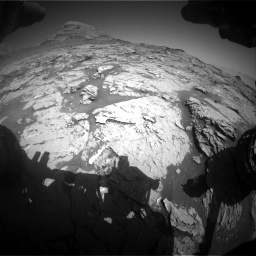 Nasa's Mars rover Curiosity acquired this image using its Front Hazard Avoidance Camera (Front Hazcam) on Sol 3154, at drive 568, site number 89