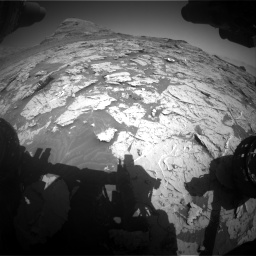 Nasa's Mars rover Curiosity acquired this image using its Front Hazard Avoidance Camera (Front Hazcam) on Sol 3154, at drive 604, site number 89