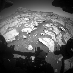 Nasa's Mars rover Curiosity acquired this image using its Front Hazard Avoidance Camera (Front Hazcam) on Sol 3154, at drive 628, site number 89
