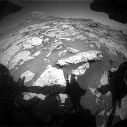 Nasa's Mars rover Curiosity acquired this image using its Front Hazard Avoidance Camera (Front Hazcam) on Sol 3154, at drive 640, site number 89