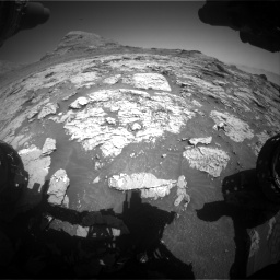 Nasa's Mars rover Curiosity acquired this image using its Front Hazard Avoidance Camera (Front Hazcam) on Sol 3154, at drive 652, site number 89