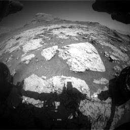 Nasa's Mars rover Curiosity acquired this image using its Front Hazard Avoidance Camera (Front Hazcam) on Sol 3154, at drive 670, site number 89