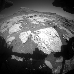 Nasa's Mars rover Curiosity acquired this image using its Front Hazard Avoidance Camera (Front Hazcam) on Sol 3154, at drive 676, site number 89