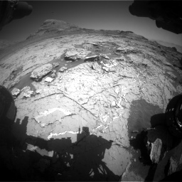 Nasa's Mars rover Curiosity acquired this image using its Front Hazard Avoidance Camera (Front Hazcam) on Sol 3154, at drive 700, site number 89