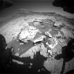 Nasa's Mars rover Curiosity acquired this image using its Front Hazard Avoidance Camera (Front Hazcam) on Sol 3154, at drive 706, site number 89