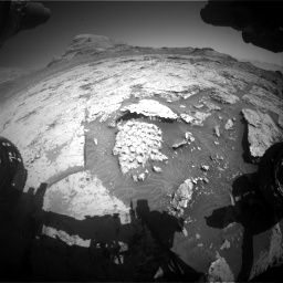 Nasa's Mars rover Curiosity acquired this image using its Front Hazard Avoidance Camera (Front Hazcam) on Sol 3154, at drive 712, site number 89