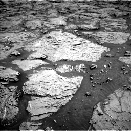 Nasa's Mars rover Curiosity acquired this image using its Left Navigation Camera on Sol 3154, at drive 550, site number 89