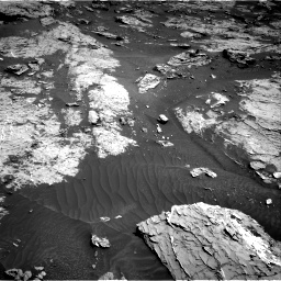 Nasa's Mars rover Curiosity acquired this image using its Right Navigation Camera on Sol 3154, at drive 382, site number 89