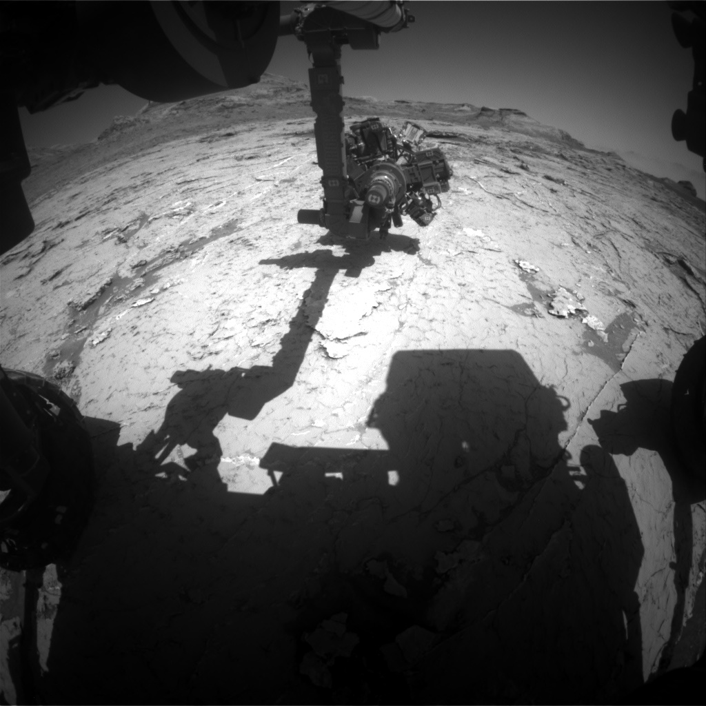 Nasa's Mars rover Curiosity acquired this image using its Front Hazard Avoidance Camera (Front Hazcam) on Sol 3156, at drive 724, site number 89