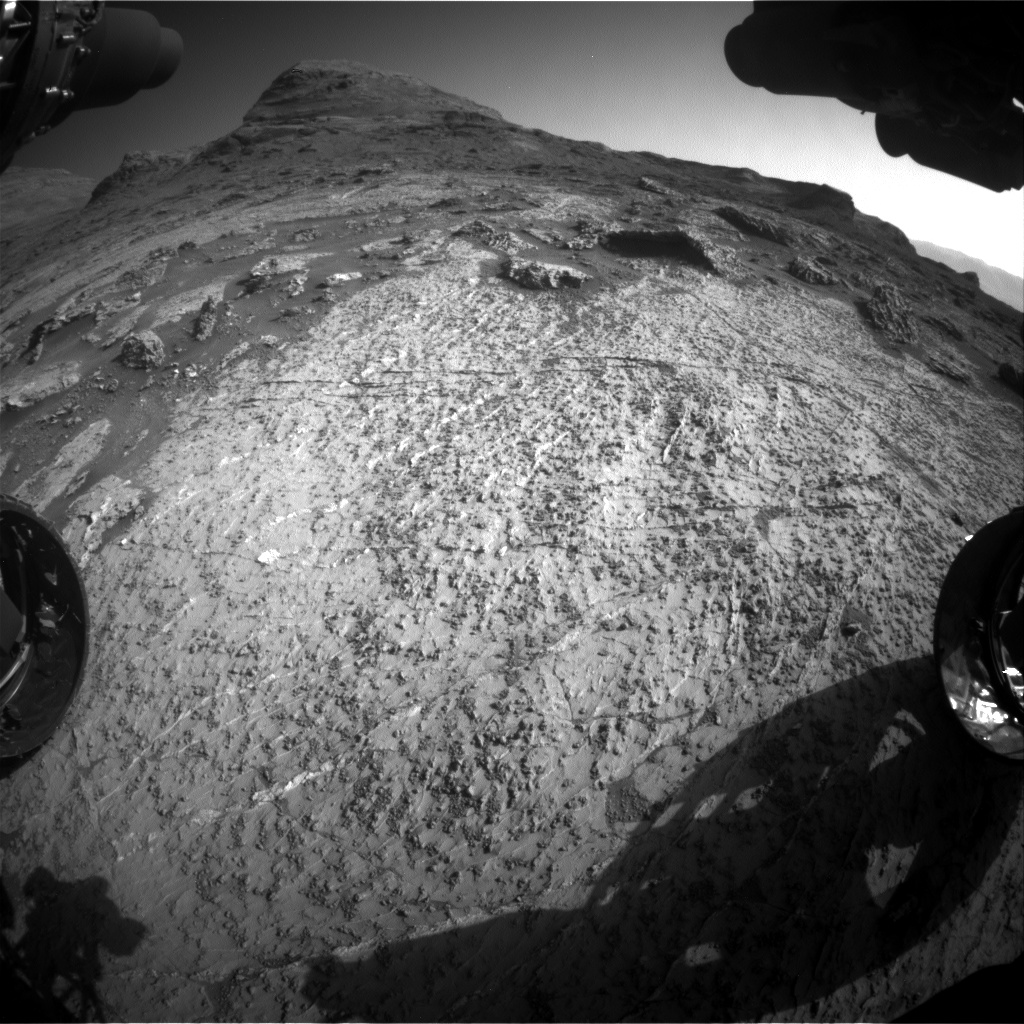 Nasa's Mars rover Curiosity acquired this image using its Front Hazard Avoidance Camera (Front Hazcam) on Sol 3156, at drive 1082, site number 89