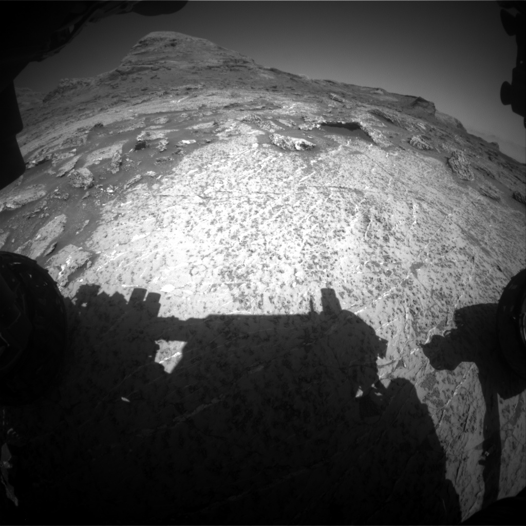 Nasa's Mars rover Curiosity acquired this image using its Front Hazard Avoidance Camera (Front Hazcam) on Sol 3157, at drive 1082, site number 89