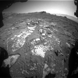 Nasa's Mars rover Curiosity acquired this image using its Front Hazard Avoidance Camera (Front Hazcam) on Sol 3158, at drive 1322, site number 89