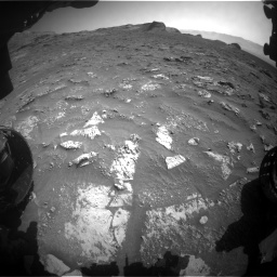 Nasa's Mars rover Curiosity acquired this image using its Front Hazard Avoidance Camera (Front Hazcam) on Sol 3158, at drive 1358, site number 89