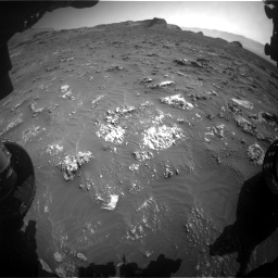Nasa's Mars rover Curiosity acquired this image using its Front Hazard Avoidance Camera (Front Hazcam) on Sol 3158, at drive 1370, site number 89