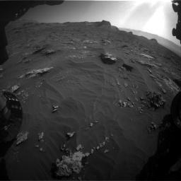 Nasa's Mars rover Curiosity acquired this image using its Front Hazard Avoidance Camera (Front Hazcam) on Sol 3158, at drive 1430, site number 89