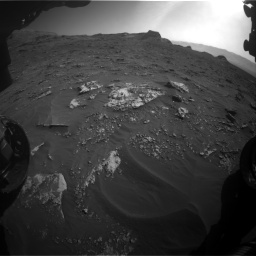 Nasa's Mars rover Curiosity acquired this image using its Front Hazard Avoidance Camera (Front Hazcam) on Sol 3158, at drive 1448, site number 89