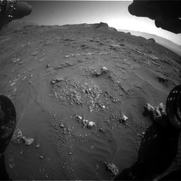 Nasa's Mars rover Curiosity acquired this image using its Front Hazard Avoidance Camera (Front Hazcam) on Sol 3158, at drive 1394, site number 89