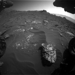 Nasa's Mars rover Curiosity acquired this image using its Front Hazard Avoidance Camera (Front Hazcam) on Sol 3158, at drive 1442, site number 89