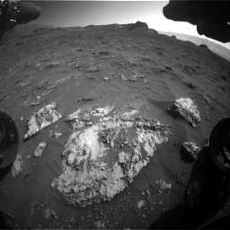 Nasa's Mars rover Curiosity acquired this image using its Front Hazard Avoidance Camera (Front Hazcam) on Sol 3158, at drive 1454, site number 89