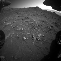 Nasa's Mars rover Curiosity acquired this image using its Front Hazard Avoidance Camera (Front Hazcam) on Sol 3158, at drive 1460, site number 89